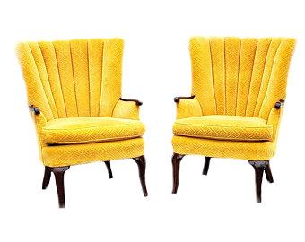 Gold velvet chairs | Etsy