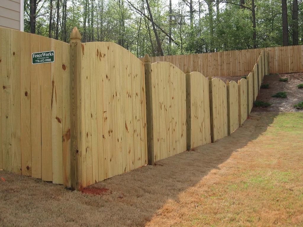 ... custom scalloped privacy fence FMWCZMY