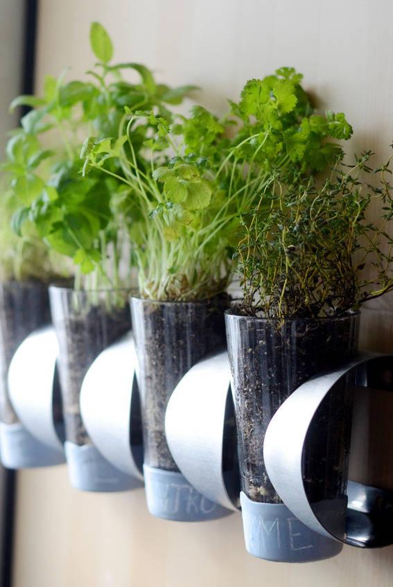 15 indoor herb garden ideas - kitchen herb planters DWBSSGT