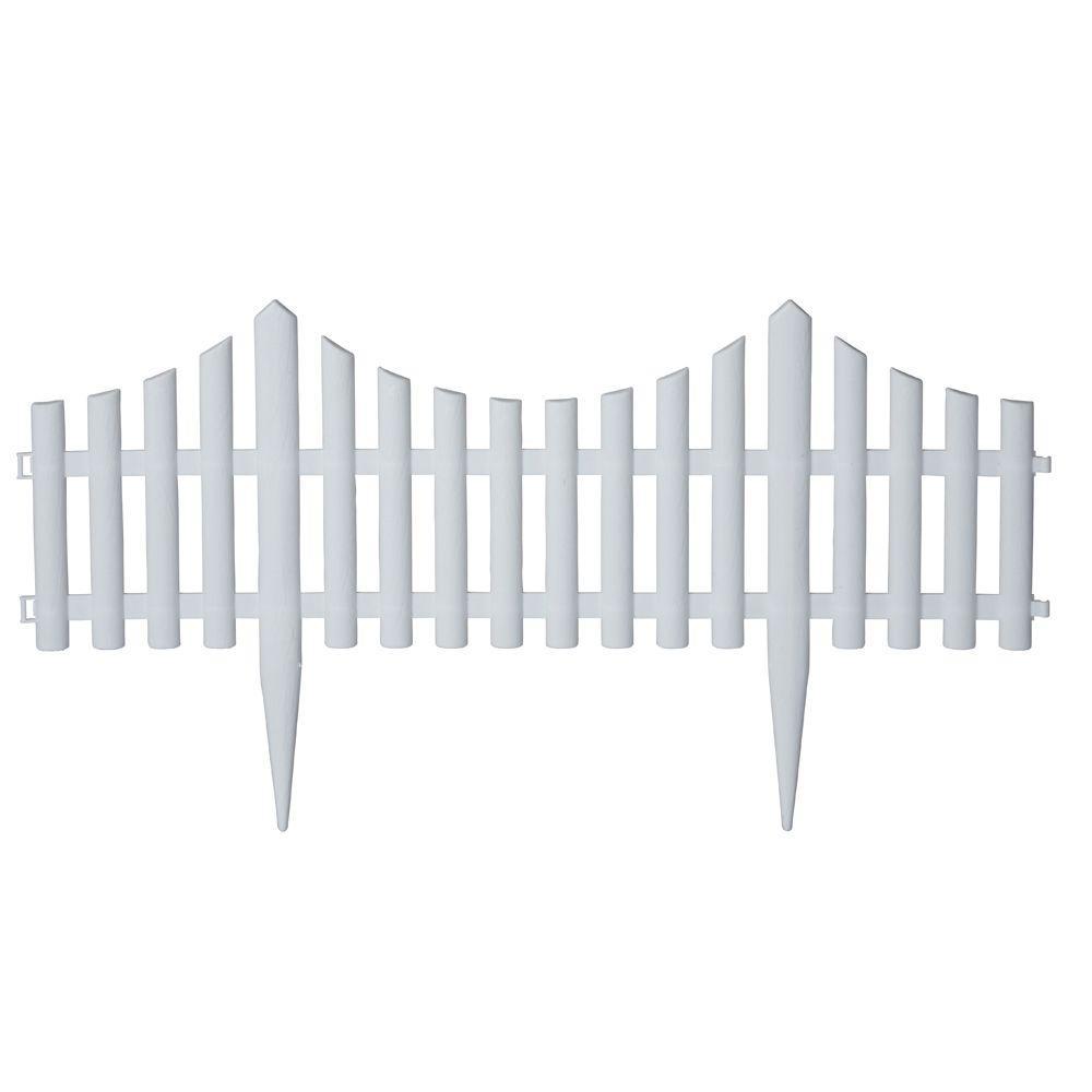 24 in. resin picket garden fence ... UCZUUME