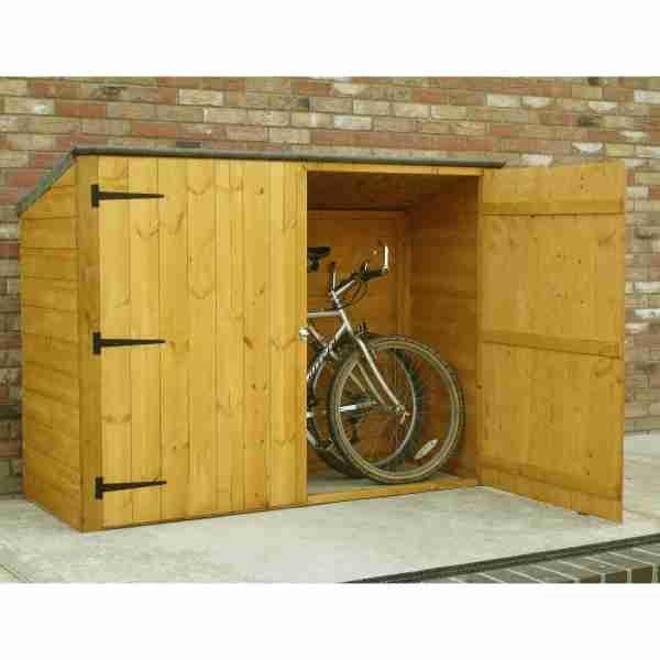 6x3 shire wooden bike shed ... XHWIUTI