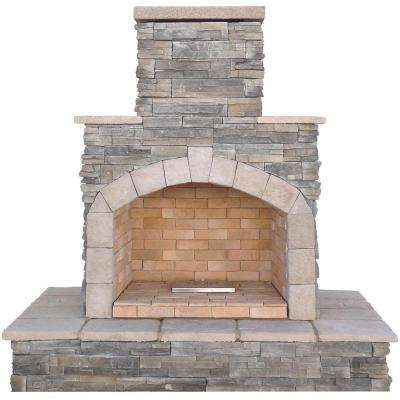 78 in. gray natural stone propane gas outdoor fireplace GRIVXWB