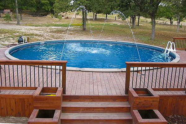 above ground pool deck plans ... awesome-aboveground-pool-decks-1 GOKRMJL
