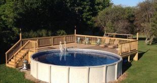 above ground pool decks above ground pool deck for 24 ft round pool. deck is 28x28. OADPVRM