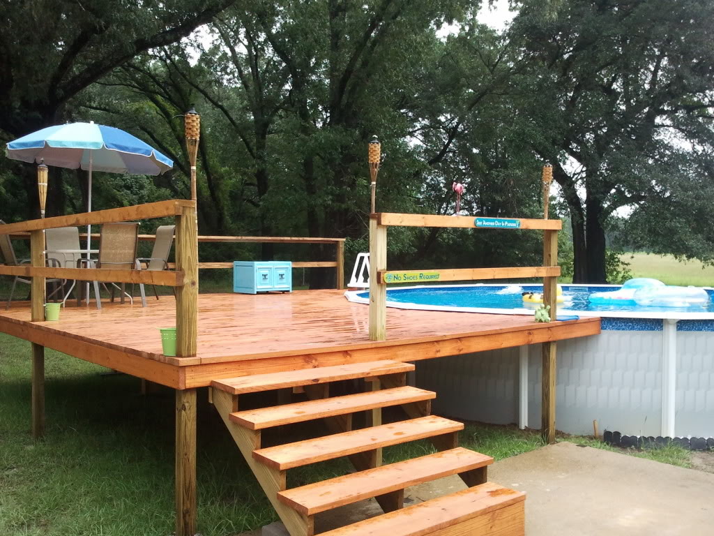 above ground pool decks above ground pool deck kits | ... our agp and deck install - above VGZWLYL
