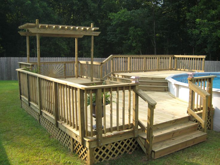 above ground pool decks above ground pool deck kits | sunset decks - pools LDAPZOD