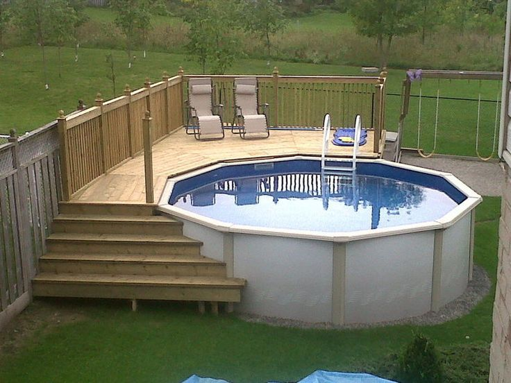 above ground pool with deck 25+ best ideas about above ground pool decks on pinterest | swimming pool  decks, ZUFAUCY