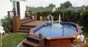 above ground pool with deck impressive above ground pools deck designs IWSGRUB