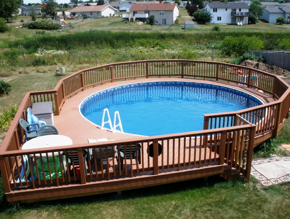above ground pools with decks above ground pool deck designs ideas FKNYHNH