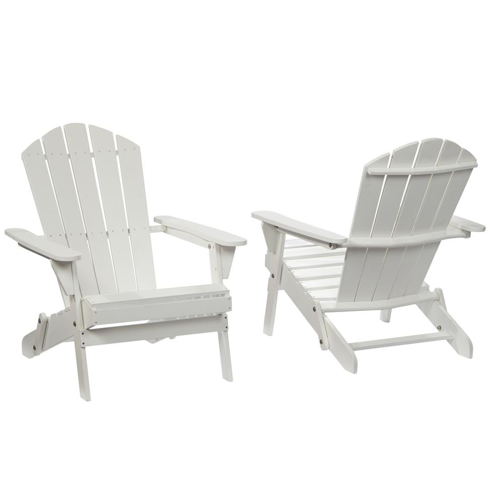 adirondack chairs lattice folding white outdoor adirondack chair (2-pack) HPHYIQL