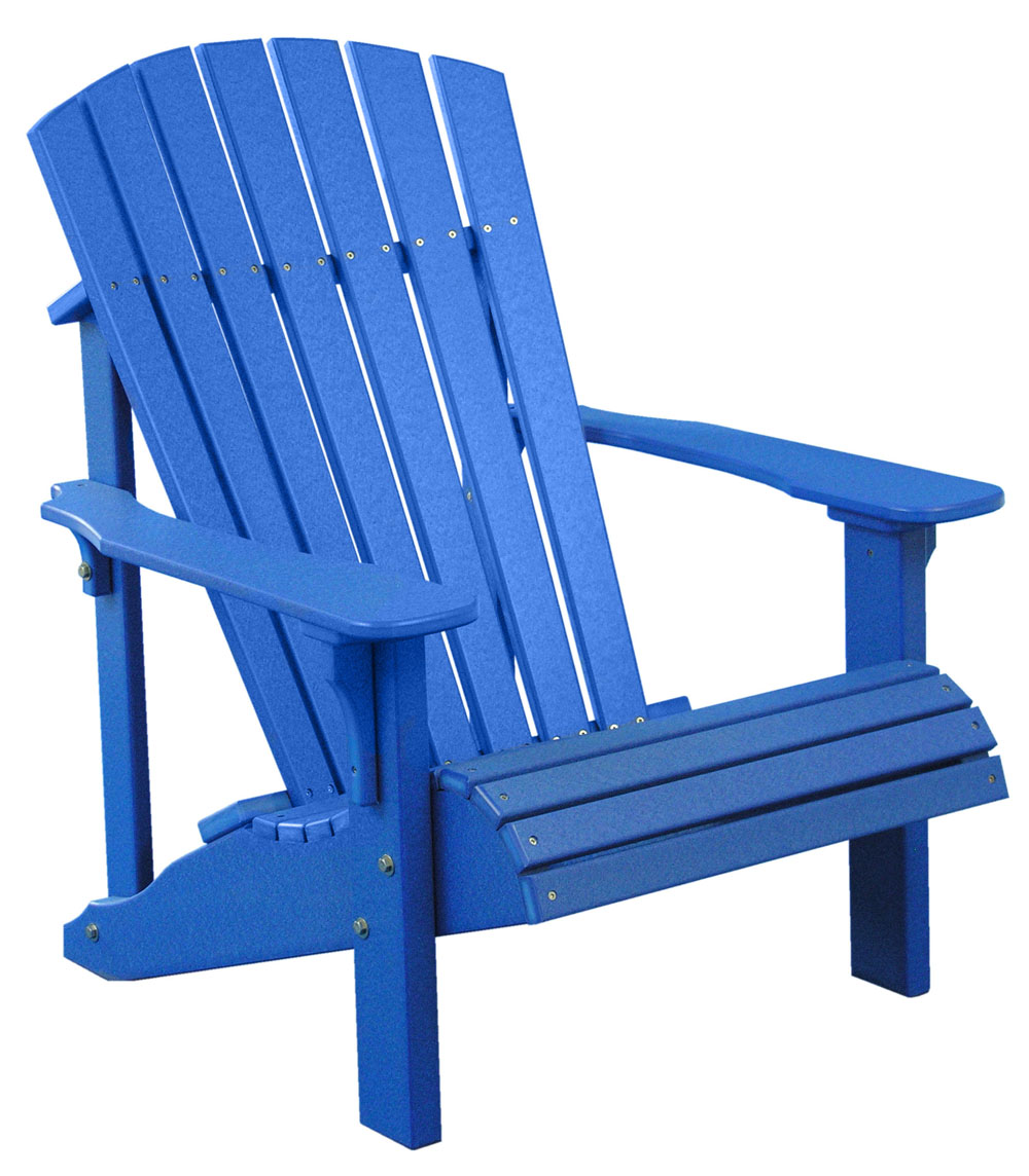 adirondack chairs ... picture of luxcraft poly deluxe adirondack chair ... XTPSYLI