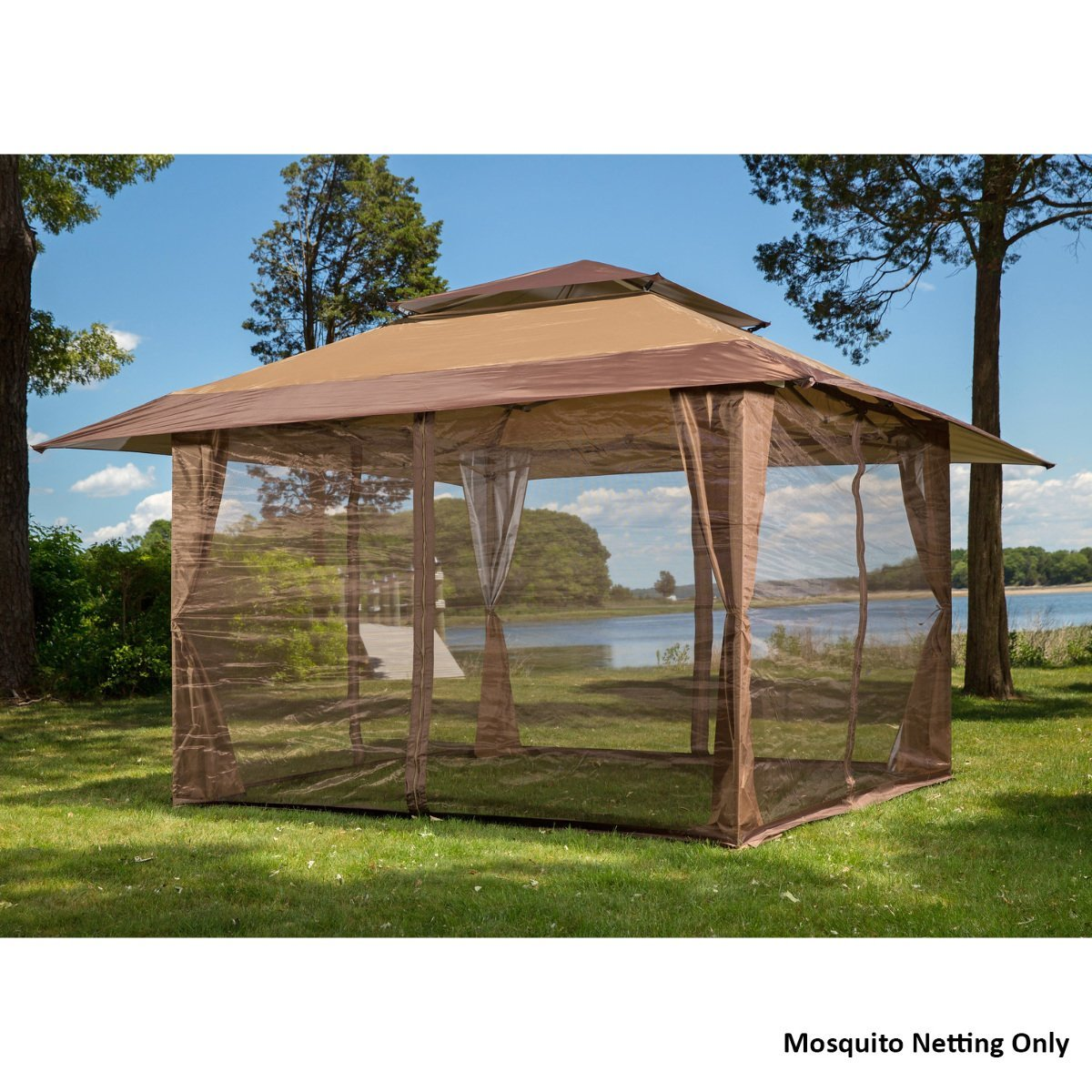 amazon.com: 10u0027 x 10u0027 mosquito netting panels for gazebo canopy: patio,  lawn u0026 garden ANMJYOY
