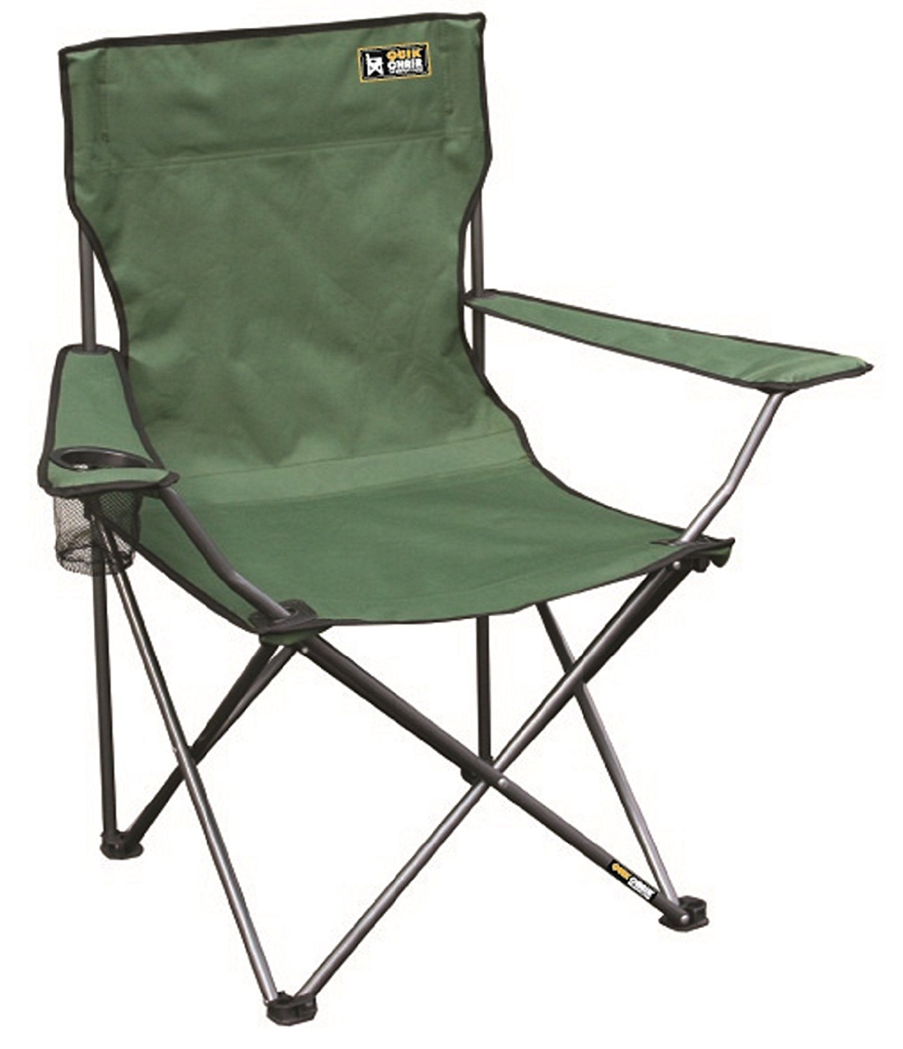 amazon.com : quik chair folding quad mesh camp chair - blue : camping chairs VQRSUSU