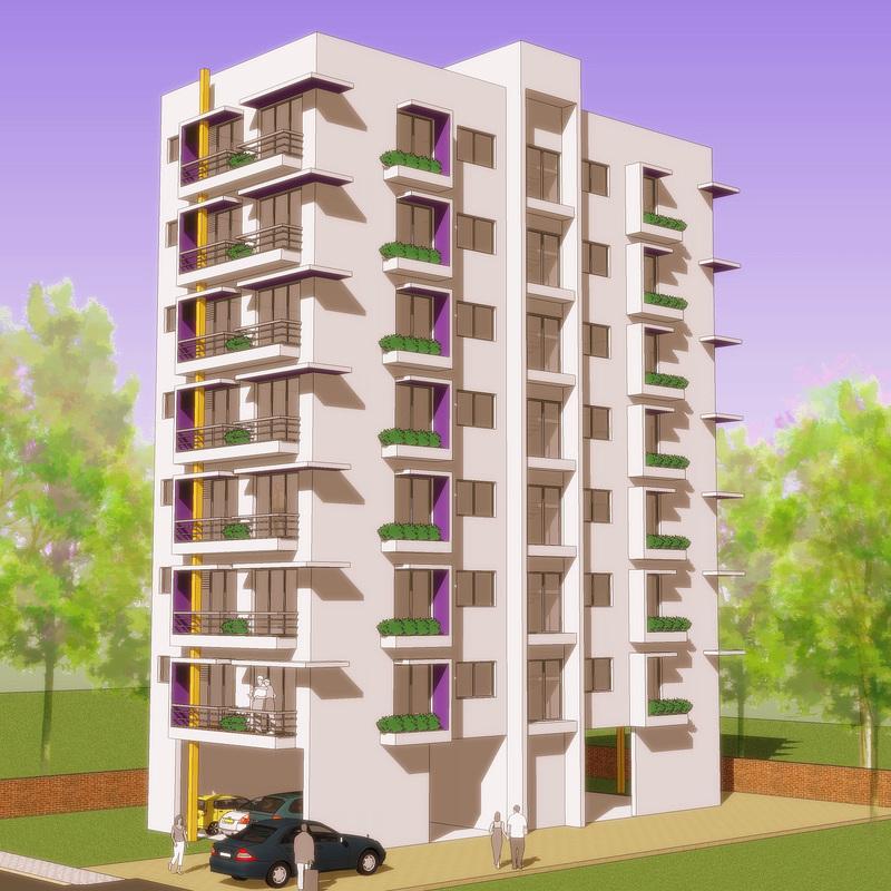 apartment building design - 3001 XQWTUCE