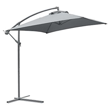 astonica 50104393 adjustable charcoal steel ribbed cantilever umbrella NKQVACC