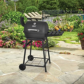 backyard grill mini barrel charcoal grill outdoor porcelain-coated cooking  grid GYAWXOX