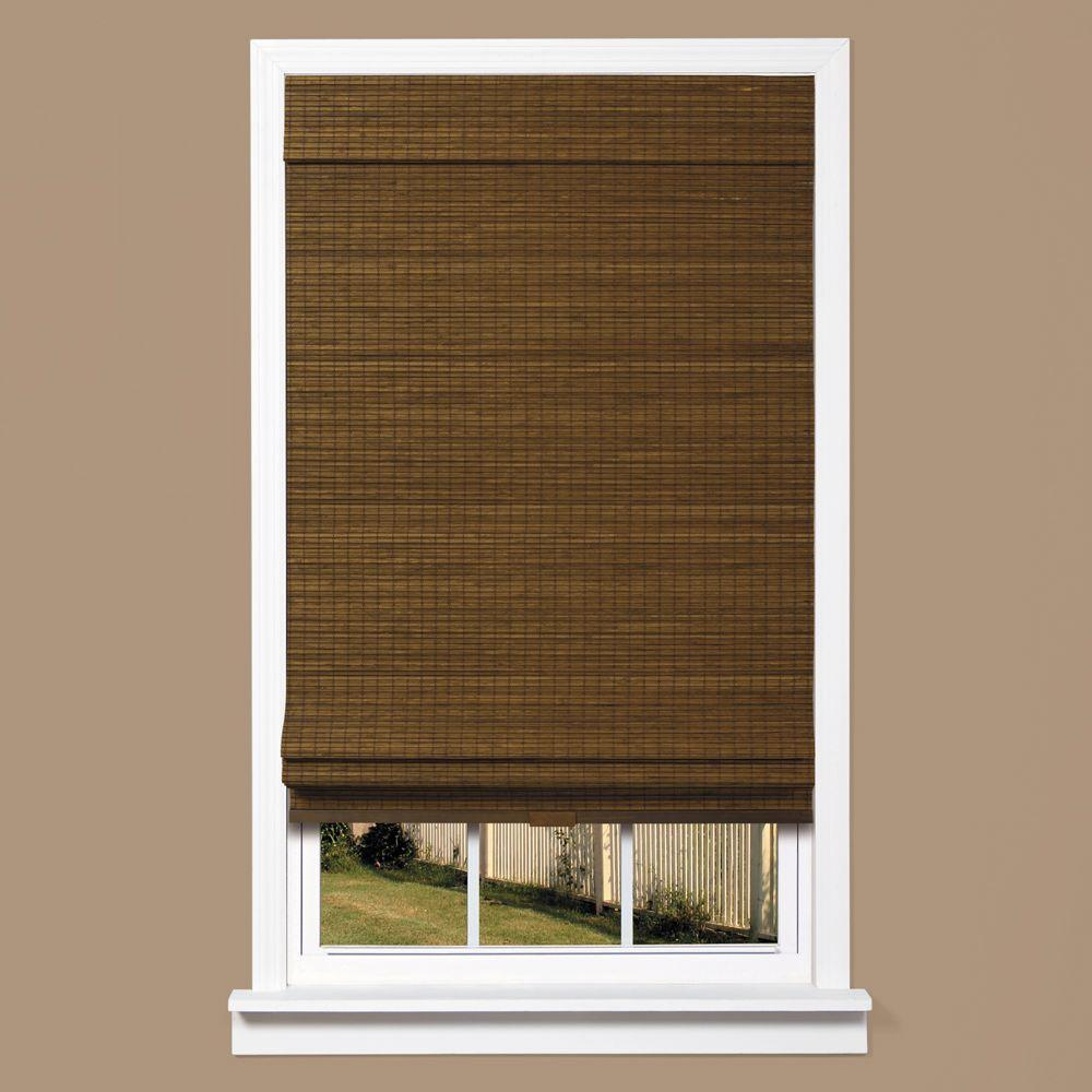 bamboo shades cordless natural woven bamboo zig-zag roman shade HXGAIDF