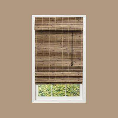 bamboo shades cut to width driftwood flatweave bamboo roman shade AVMCBXM
