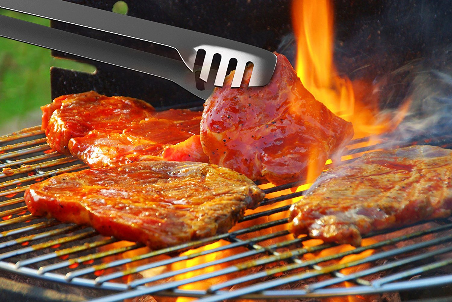 barbecue grill amazon.com : bbq grill tools set with 16 barbecue accessories - stainless  steel utensils JZVUTLS