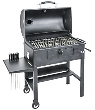 barbecue grill amazon.com : blackstone 3-in-1 kabob charcoal grill, barbecue, smoker,  automatic rotisserie - bundle with MSUCLQY