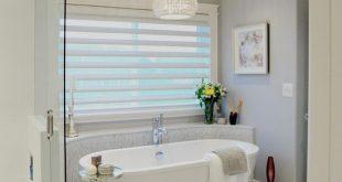 bathroom blinds master bathroom - w half wall behind tub VPKUKIV