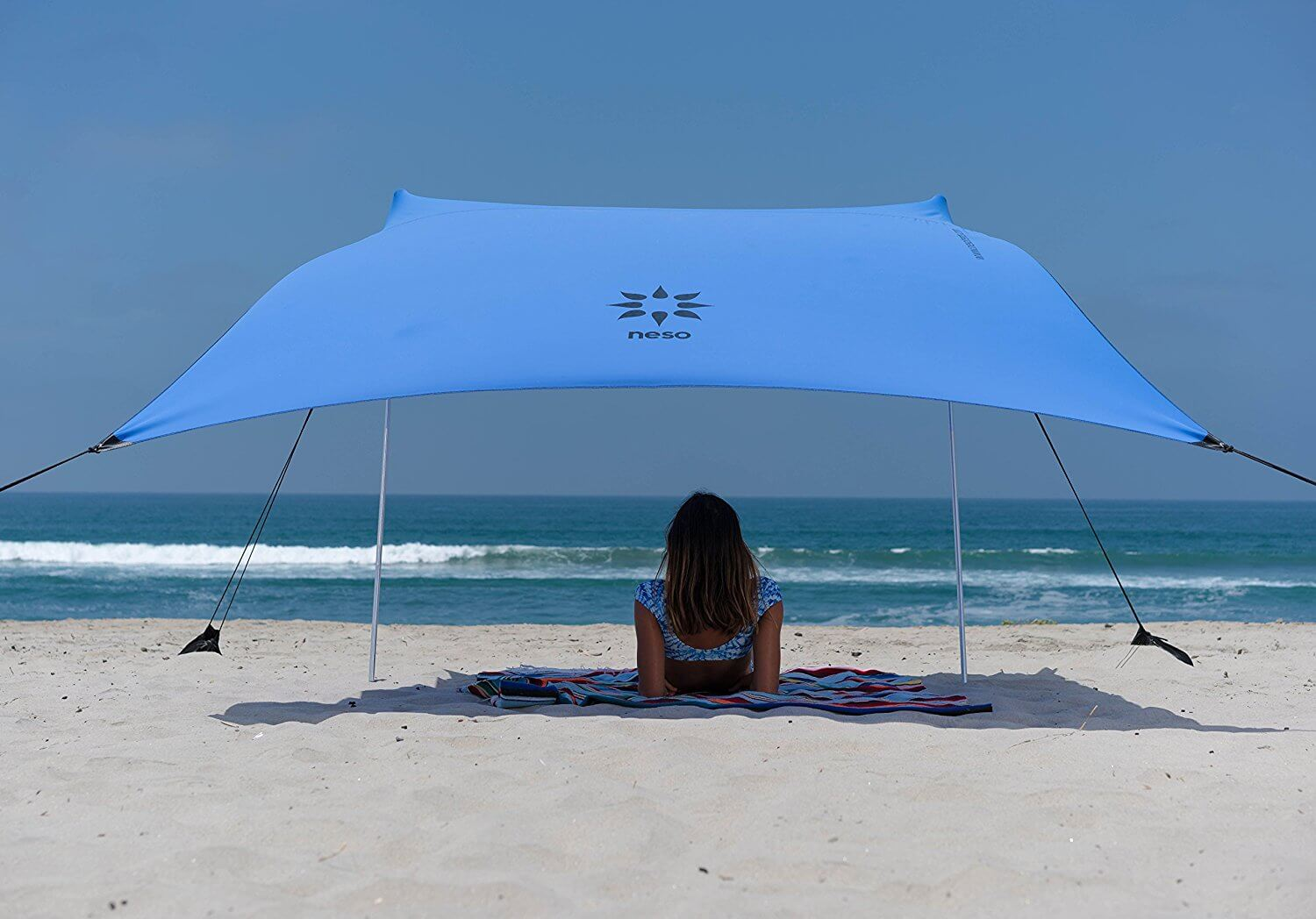 beach canopy neso tents beach tent with sand anchor, portable canopy sunshade - 7u0027 x 7 GMCZCKN