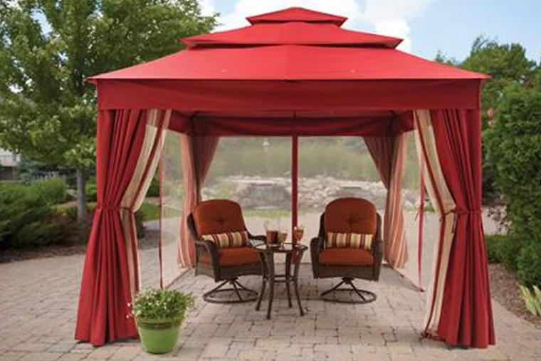bhg archer ridge gazebo canopy (red) PBGLYPS