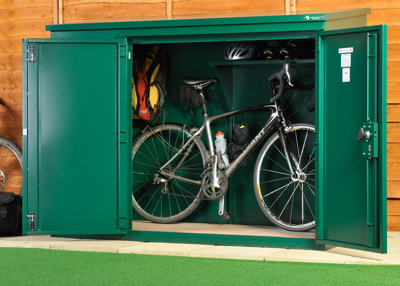 bike shed police approved - high security metal bike storage for up to 3 bikes ... HQOVFBF