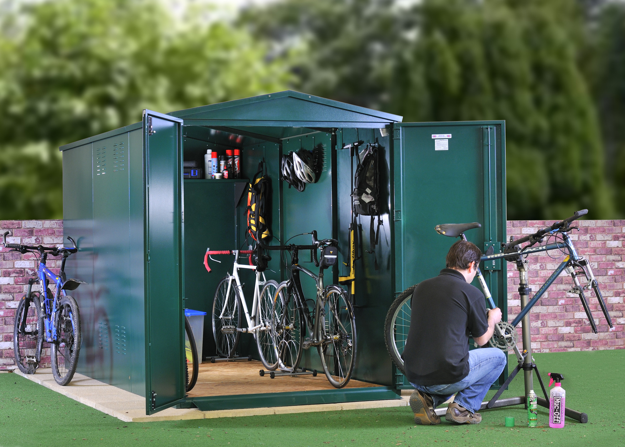 bike storage shed metal bike storage - secured by design - police approved specification ... IJNUPCF