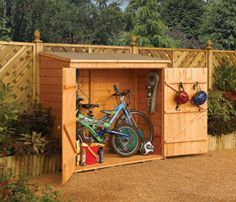 bike storage shed wall-store outdoor wood storage shed, brown (assembly hardware) #a051 THQZQYL
