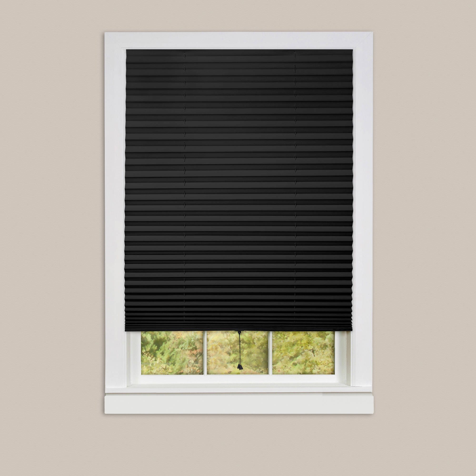 blackout blinds 1-2-3 vinyl room darkening temporary pleated window shade JHDKTRH