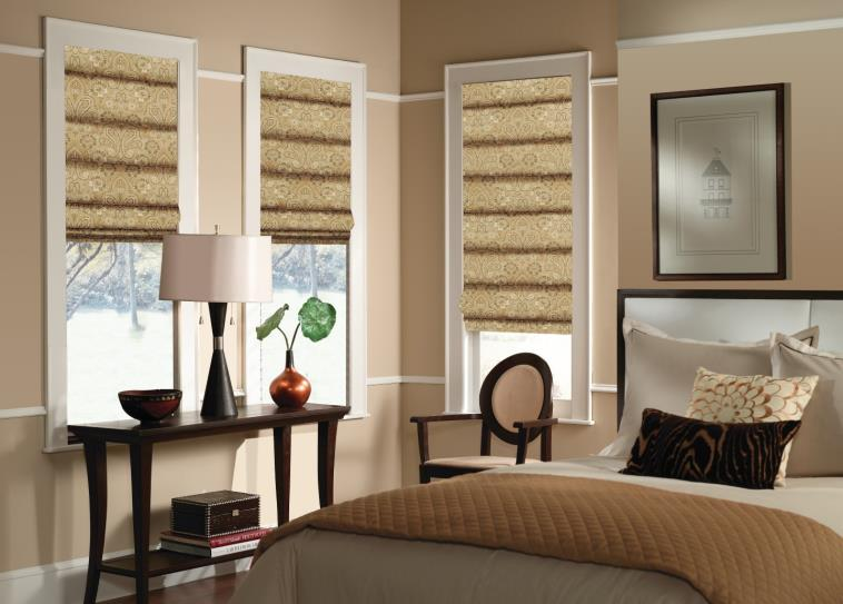budget blinds patterned roman shades ERHSGMR