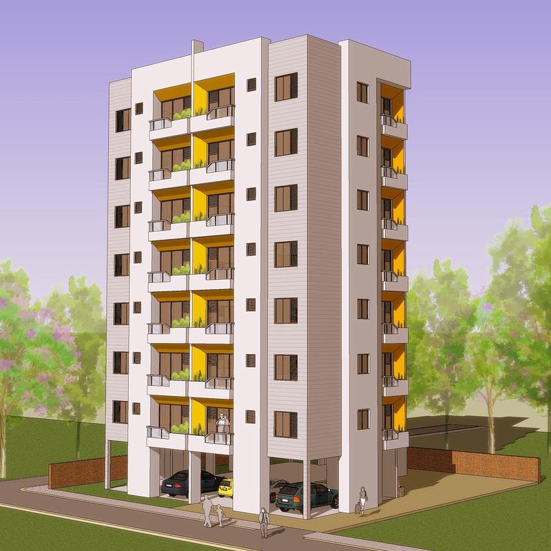 building design area - 866 sq.ft. plot size - 80 ft. x 80 ft. picture. apartment OUROFZC