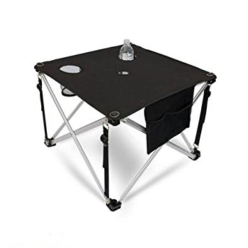 camping table world outdoor products ultra lightweight premium folding aluminum camping  table with cup holders, mesh GXFJAMG