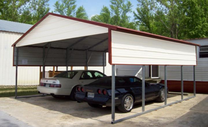 car ports u003cpu003esteel carport with boxed eave roofu003c/pu003e EQHAWKQ