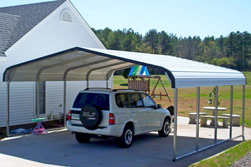 carport kits metal caport kits on concrete base can protect multiple vehicles AGXKKEN
