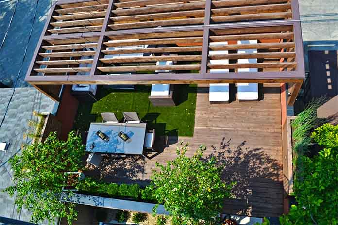 cedar patio roof garden YPNDHFB