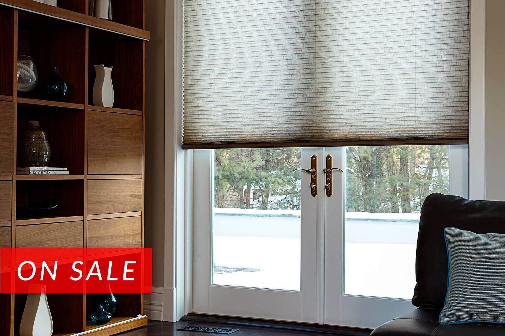 cellular shades cordless cellular shade as one piece for this family room french doors YGTPAZG