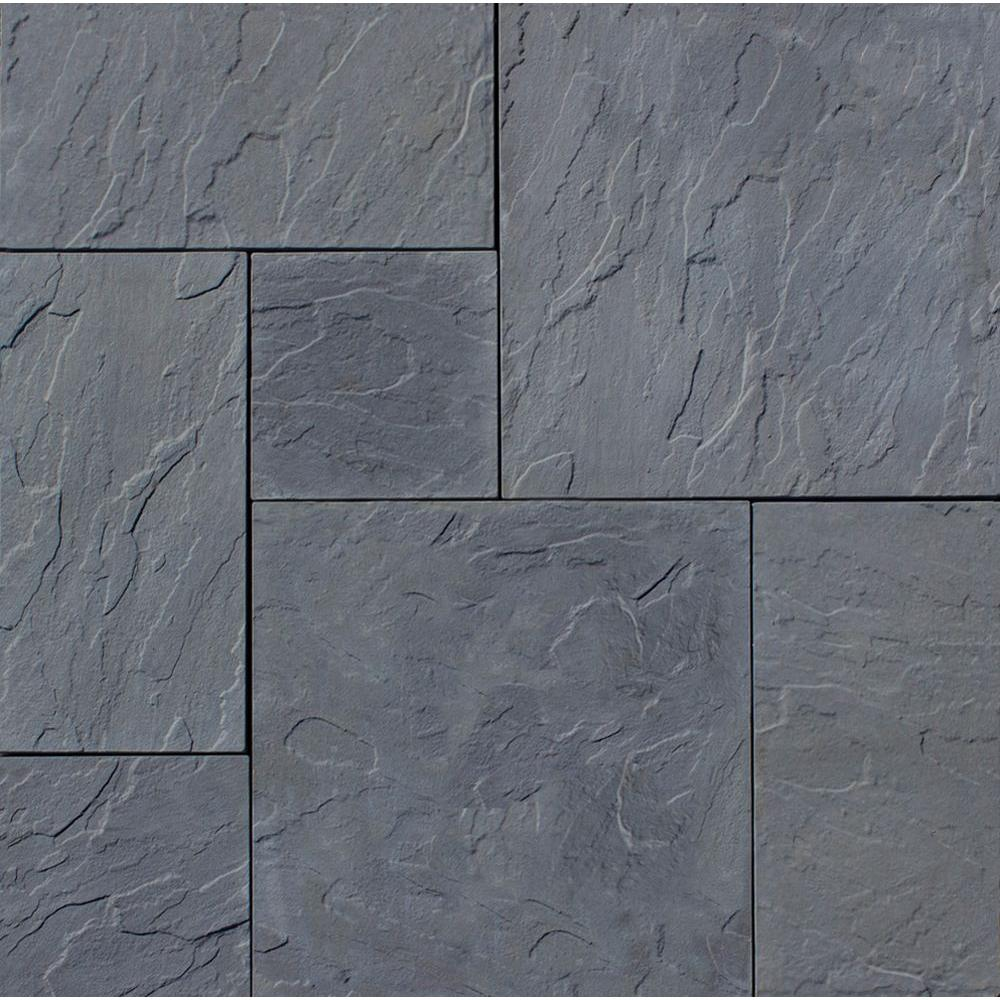 concrete pavers patio-on-a-pallet 120 in. x 120 in. gray dutch FKHFSIW