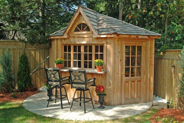 corner shed, corner cabana, toronto, backyard corner building, pool house,  pool GRPUABS