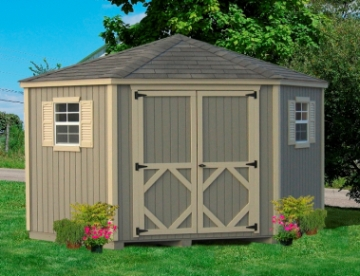 corner shed wood 10 x 10 5 corner classic shed kit BCQVMRH