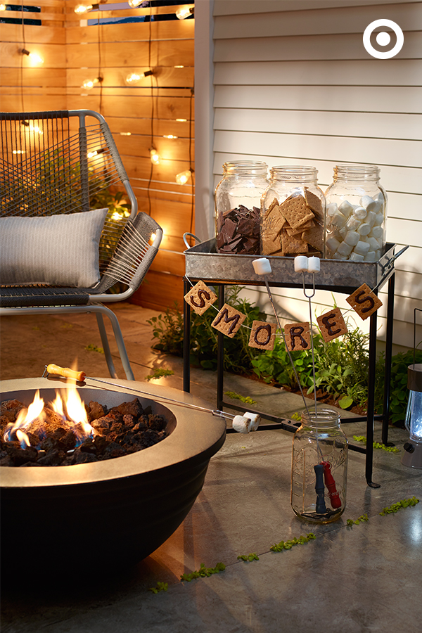 cozy fall patio decorating ideas · su0027mores bar is a perfect recipe for fall  entertaining. BVCPJQS