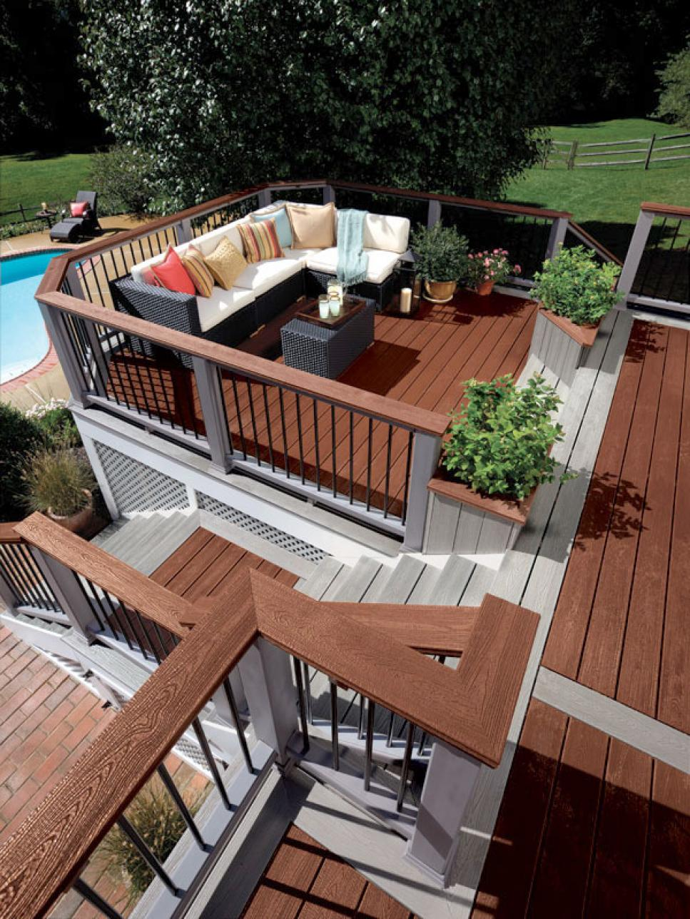 deck designs deck design ideas | hgtv BFTXAEN