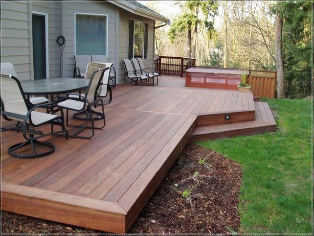 deck designs patios con deck FNTRZMU