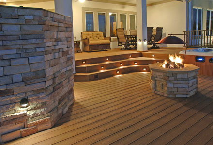 decking lights other options are small fluorescent lights and neon shade lights which are  more trendy PEPMXBI