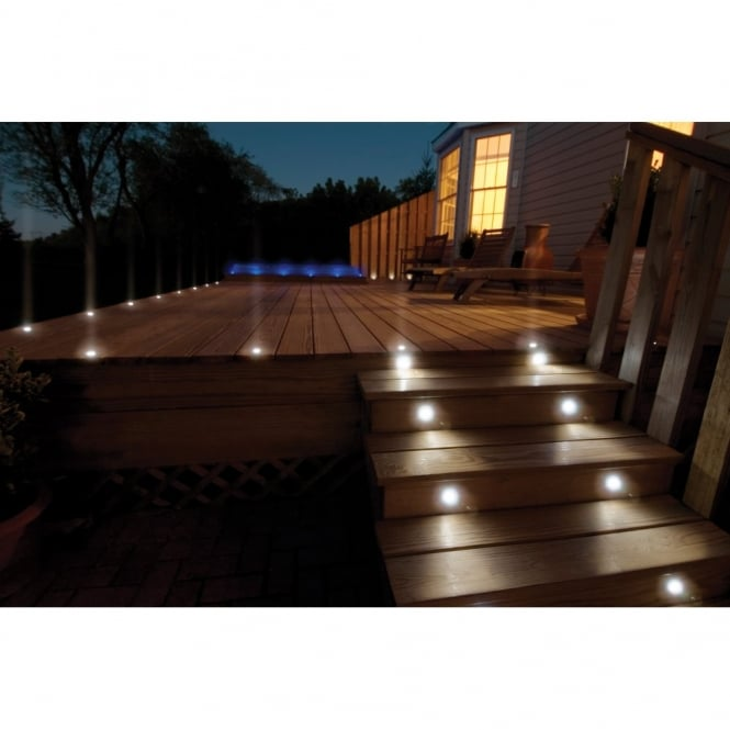 decking lights sealrange sd30 led decking walkover plinth lights ip68 10 pack OPSXROG