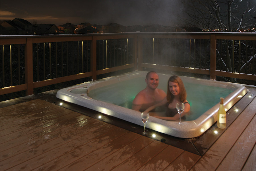 decking lights ... waterproof led recessed lights from dekor surround hot tub ... JOPXHZJ