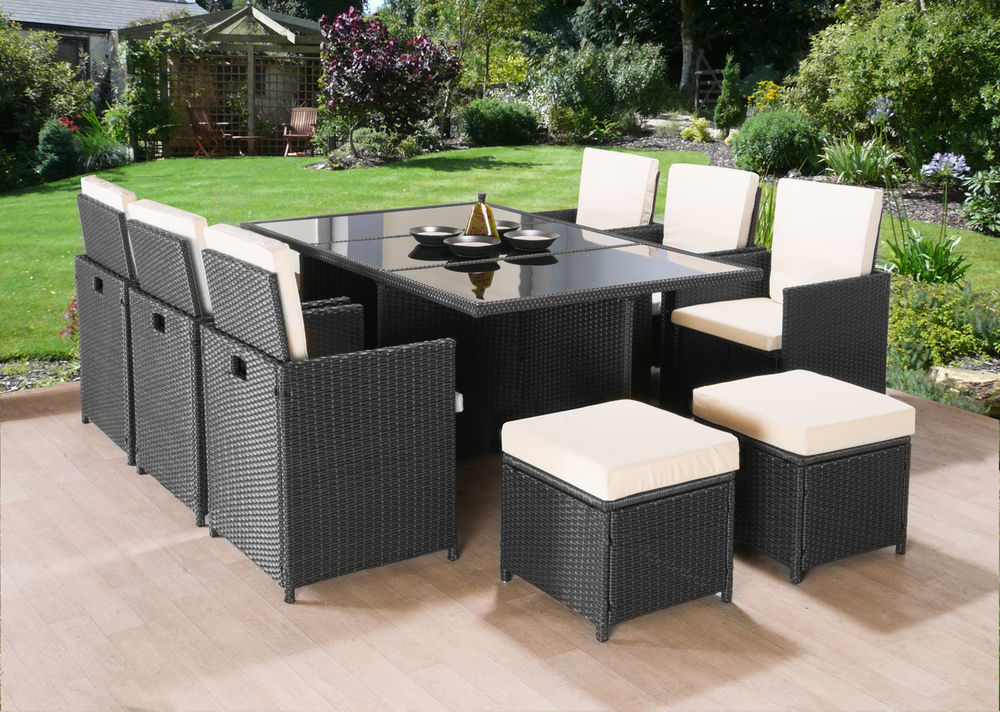 details about cube rattan garden furniture set chairs sofa table outdoor  patio wicker 10 seats ZCPGAUP