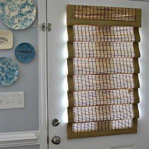 door blinds woven-wood-shades-for-front-door OUUIFAG