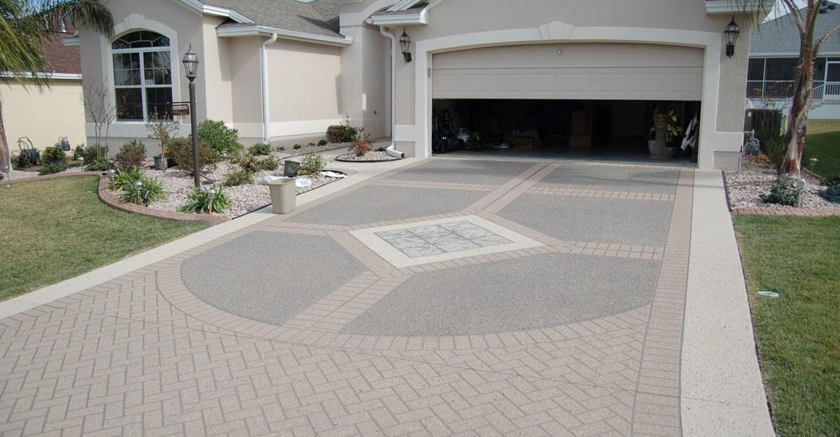 driveway ideas decorative concrete driveway, stencil template concrete driveways custom  ram design ocala, fl NJQXBPH
